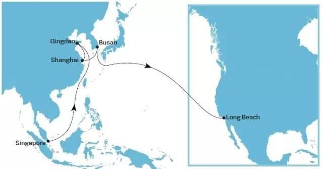 马士基调整美西航线TP8