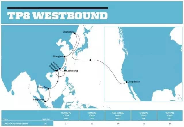 TP8西向航线图